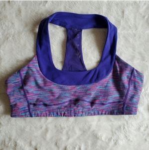 Lululemon GUC Purple Multi Sports Bra Size 12